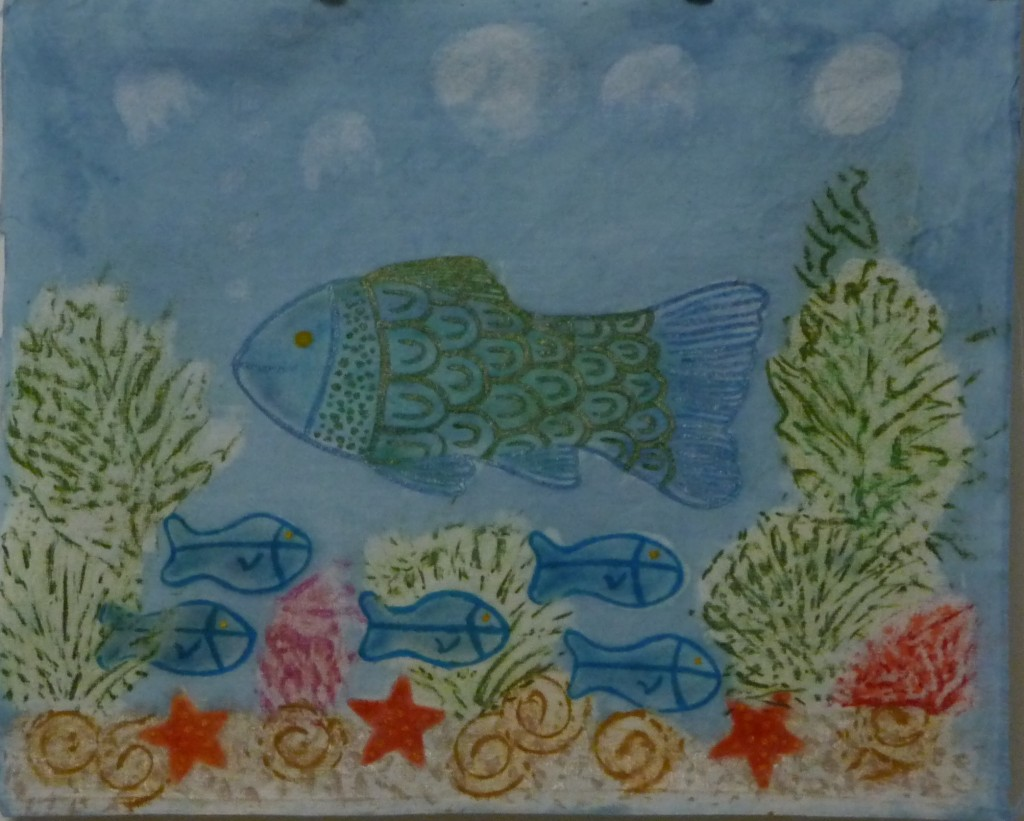 Indigo Mixed Media Sea Life 2010